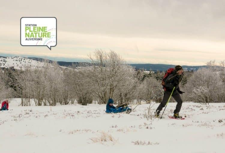 Randonnée raquette en famille au Col des Supeyres