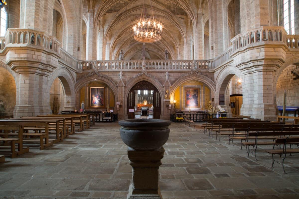 Architecture gothique à La Chaise-Dieu.