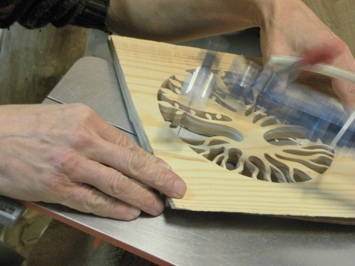 Atelier de bois chantourne