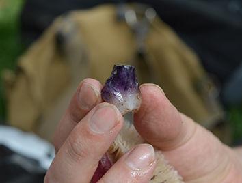 Petit cristal de quartz améthyste