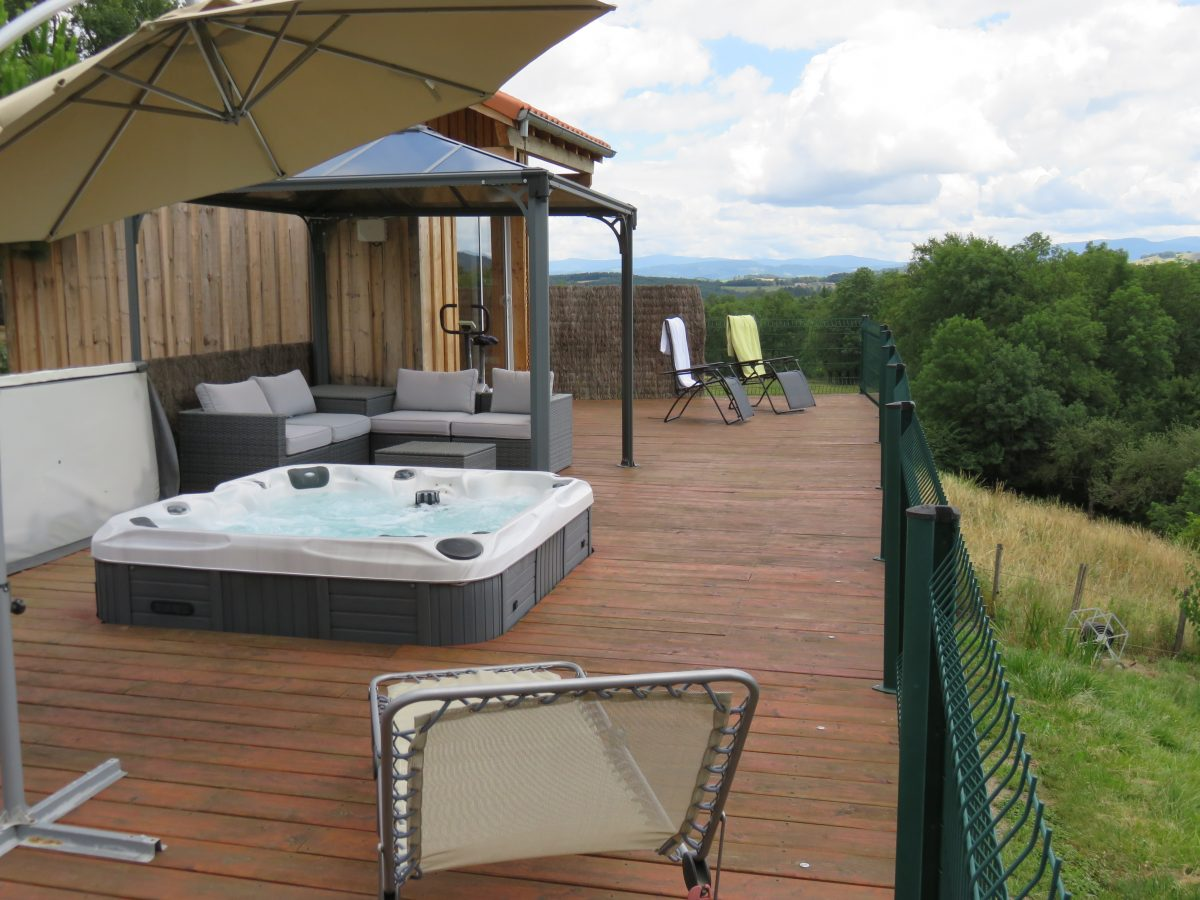 Terrasse et spa
