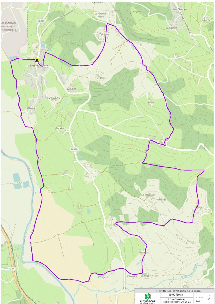 Les terrasses de la Dore (carte)