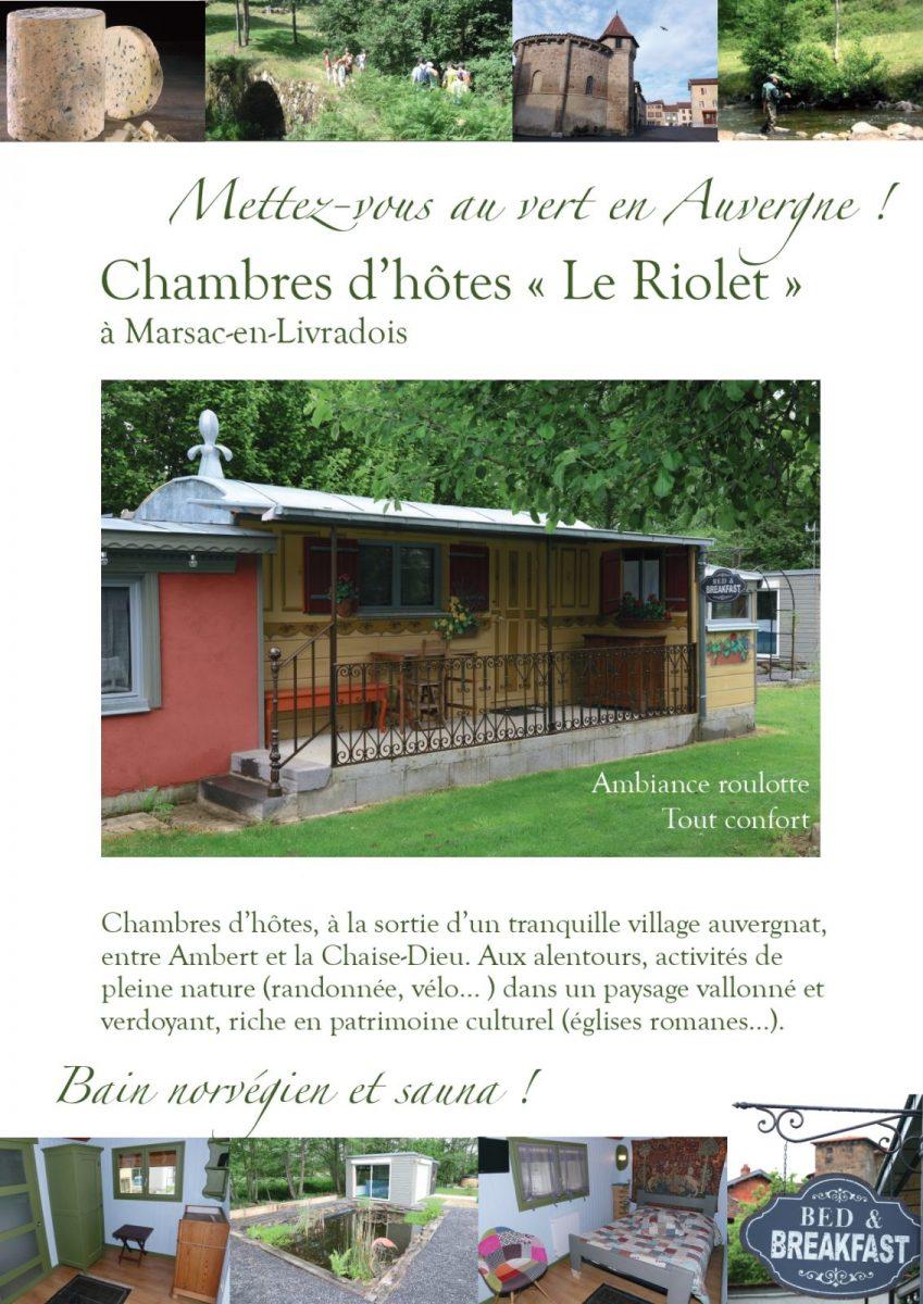 Chambres d'hôtes au Riolet – Marsac en Livradois