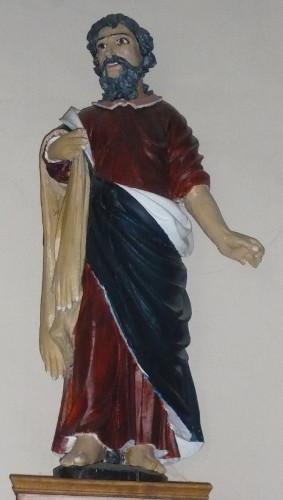 PCU_Eglise de l'Exaltation de la Sainte-Croix_Statue polychromée de St-Barthélémy