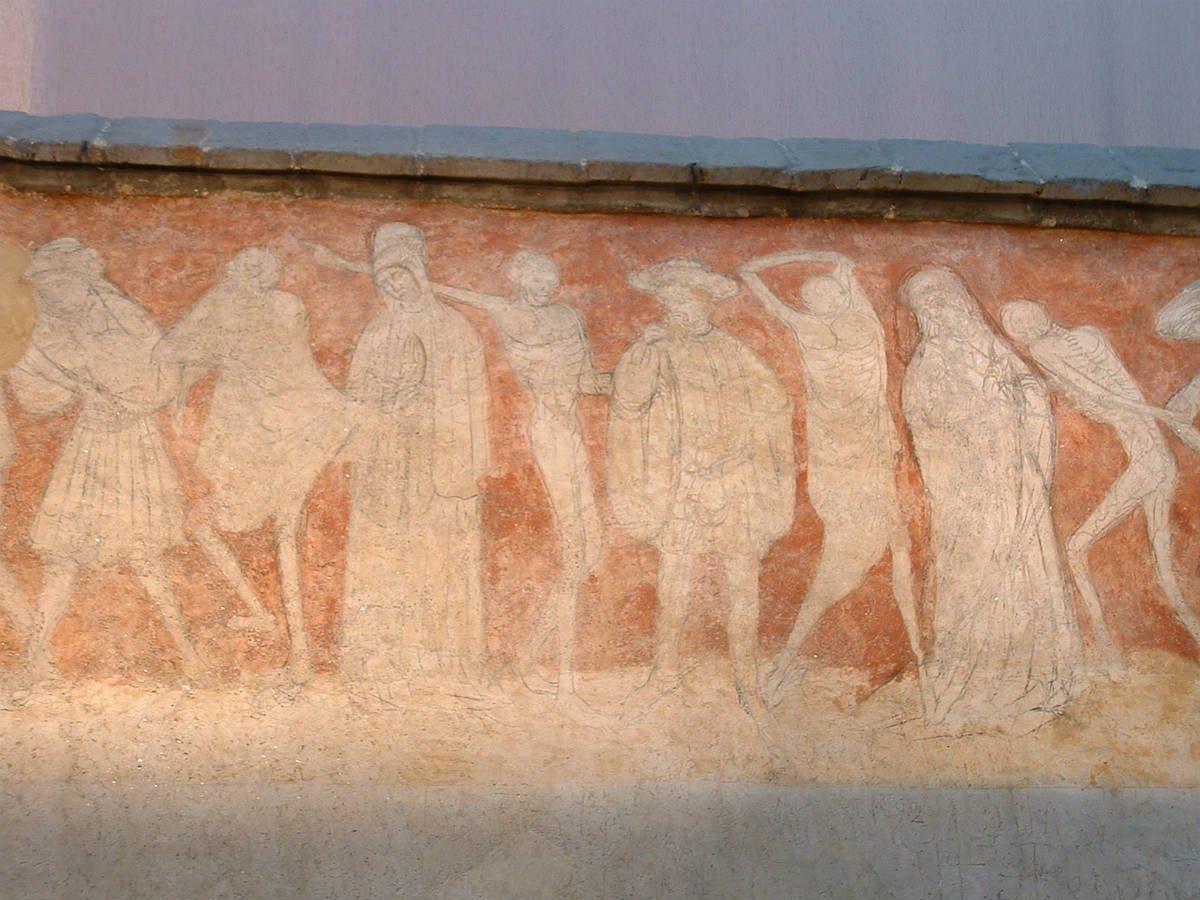 PCU_Eglise Abbatiale Saint-Robert_Abbaye de La Chaise_Dieu__fresque de La Danse Macabre