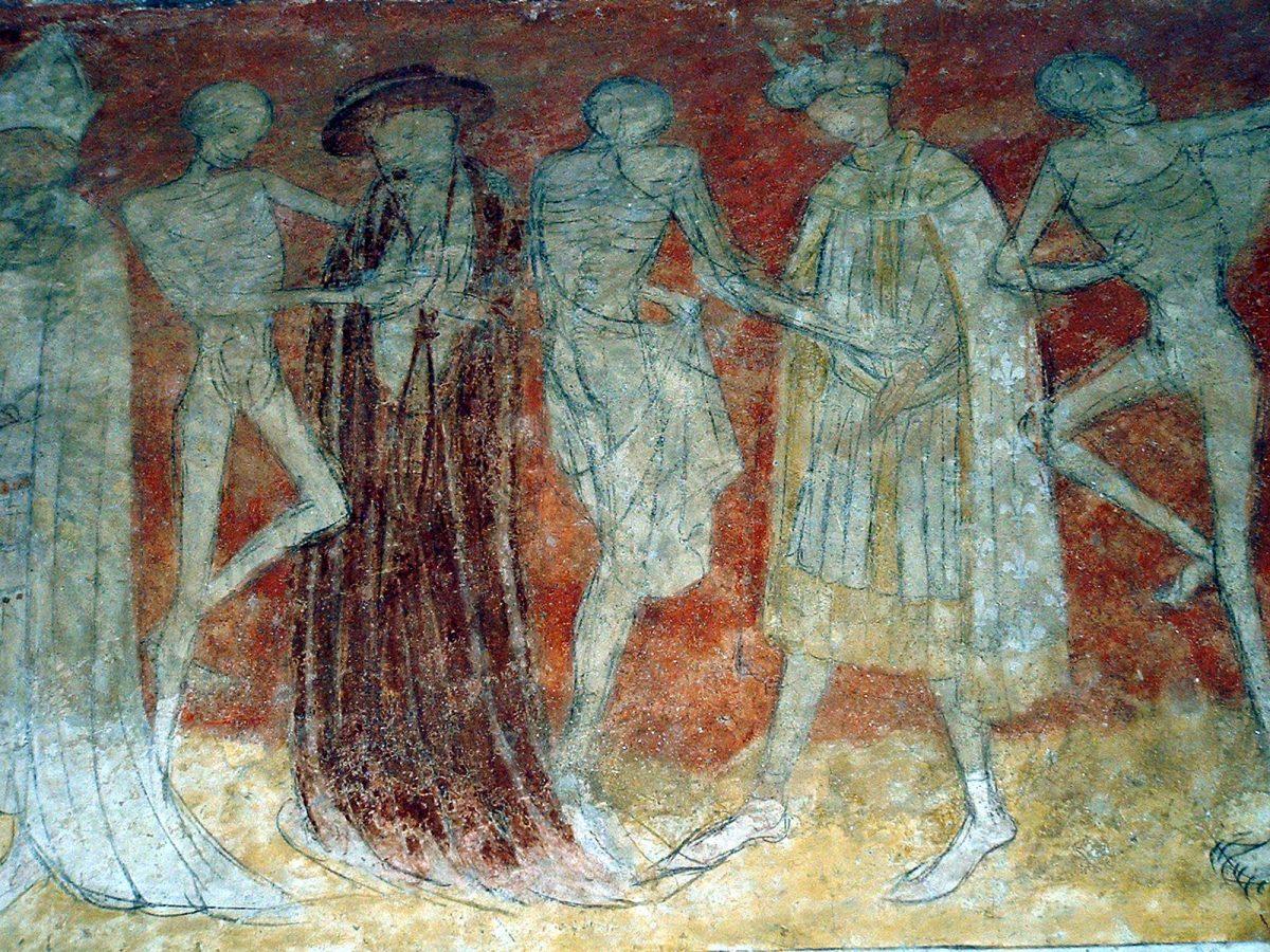 EVE_Visite de l'église abbatiale de La Chaise-Dieu_danse macabre abbatiale de La Chaise-Dieu